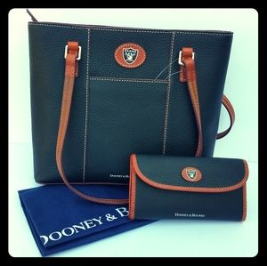 Dooney and Bourke NFL Raiders purse and wallet